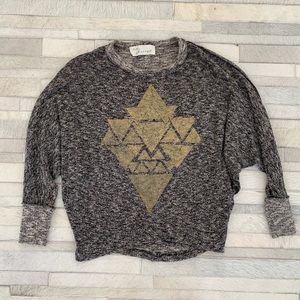 Sweaters - Gold printed Sweatshirt/sweater size Small